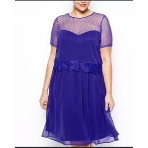 Asos Curve Polka Dot Mesh Dress